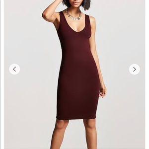 Forever 21 ⭐️ Small V-Neck Bodycon Dress